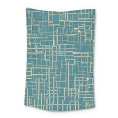 Hand Drawn Lines Background In Vintage Style Small Tapestry