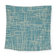 Hand Drawn Lines Background In Vintage Style Square Tapestry (large)