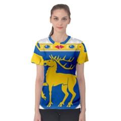 Coat of Arms of Aland Women s Sport Mesh Tee