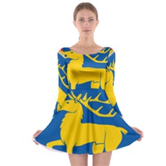 Coat of Arms of Aland Long Sleeve Skater Dress