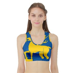 Coat of Arms of Aland Sports Bra with Border
