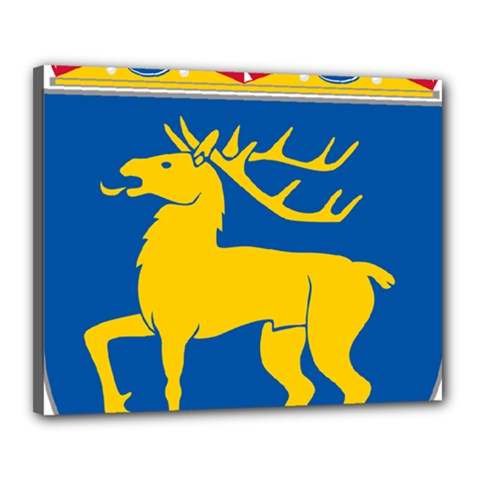 Coat Of Arms Of Aland Canvas 20  X 16