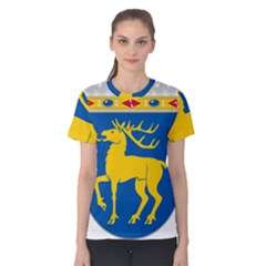 Coat of Arms of Aland Women s Cotton Tee