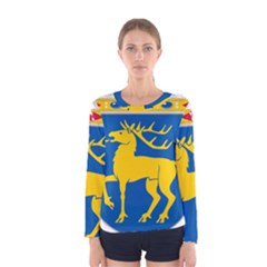 Coat of Arms of Aland Women s Long Sleeve Tee