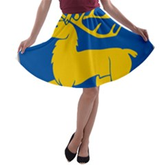 Coat of Arms of Aland A-line Skater Skirt