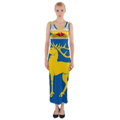 Coat of Arms of Aland Fitted Maxi Dress