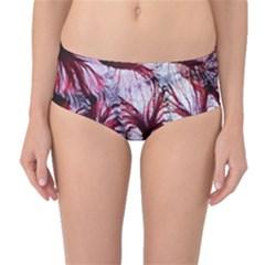 Jellyfish Ballet Wind Mid-Waist Bikini Bottoms