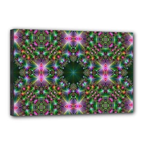 Digital Kaleidoscope Canvas 18  x 12
