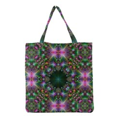 Digital Kaleidoscope Grocery Tote Bag