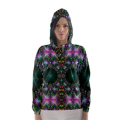 Digital Kaleidoscope Hooded Wind Breaker (Women)