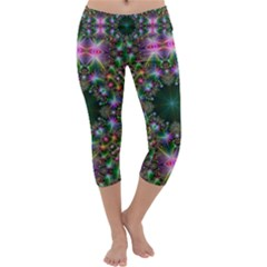 Digital Kaleidoscope Capri Yoga Leggings