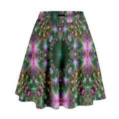 Digital Kaleidoscope High Waist Skirt