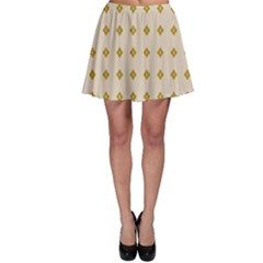 Pattern Background Retro Skater Skirt
