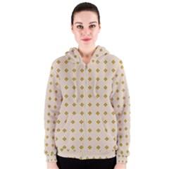 Pattern Background Retro Women s Zipper Hoodie