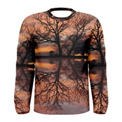 Aurora Sunset Sun Landscape Men s Long Sleeve Tee