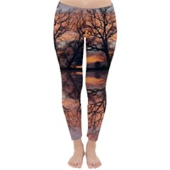 Aurora Sunset Sun Landscape Classic Winter Leggings