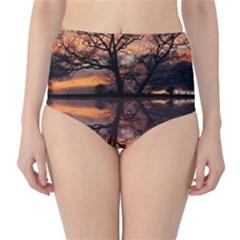 Aurora Sunset Sun Landscape High-Waist Bikini Bottoms