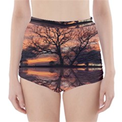 Aurora Sunset Sun Landscape High Waisted Bikini Bottoms