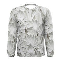 Pattern Motif Decor Men s Long Sleeve Tee