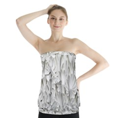 Pattern Motif Decor Strapless Top
