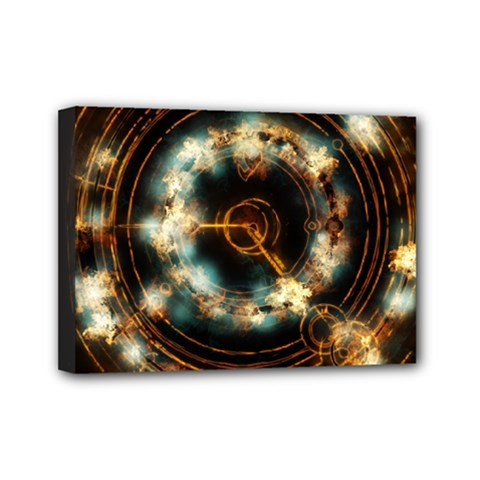 Science Fiction Energy Background Mini Canvas 7  x 5