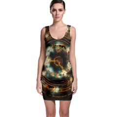 Science Fiction Energy Background Sleeveless Bodycon Dress