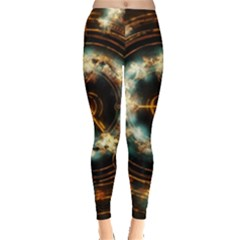 Science Fiction Energy Background Leggings