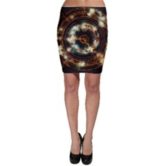 Science Fiction Energy Background Bodycon Skirt