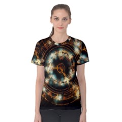 Science Fiction Energy Background Women s Cotton Tee