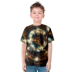 Science Fiction Energy Background Kids  Cotton Tee