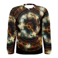 Science Fiction Energy Background Men s Long Sleeve Tee