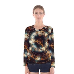 Science Fiction Energy Background Women s Long Sleeve Tee