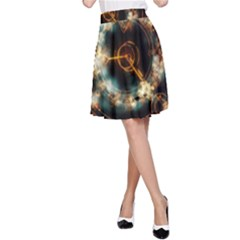Science Fiction Energy Background A-Line Skirt