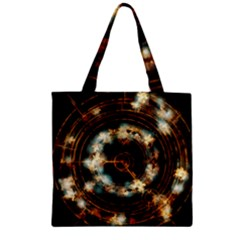 Science Fiction Energy Background Zipper Grocery Tote Bag