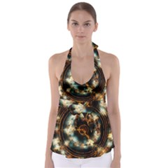 Science Fiction Energy Background Babydoll Tankini Top