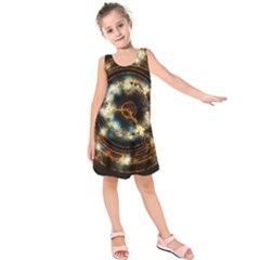 Science Fiction Energy Background Kids  Sleeveless Dress