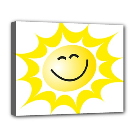 The Sun A Smile The Rays Yellow Deluxe Canvas 20  x 16