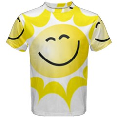 The Sun A Smile The Rays Yellow Men s Cotton Tee
