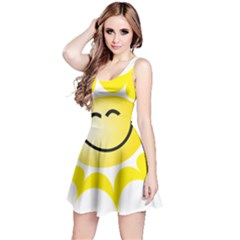 The Sun A Smile The Rays Yellow Reversible Sleeveless Dress