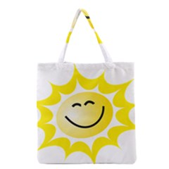 The Sun A Smile The Rays Yellow Grocery Tote Bag