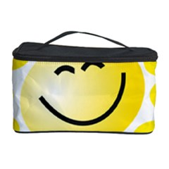 The Sun A Smile The Rays Yellow Cosmetic Storage Case