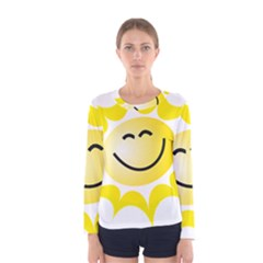 The Sun A Smile The Rays Yellow Women s Long Sleeve Tee