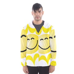 The Sun A Smile The Rays Yellow Hooded Wind Breaker (Men)