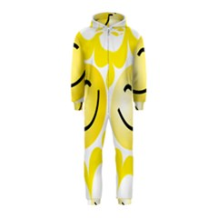 The Sun A Smile The Rays Yellow Hooded Jumpsuit (Kids)