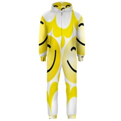 The Sun A Smile The Rays Yellow Hooded Jumpsuit (Men)