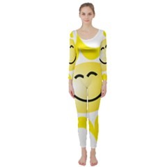 The Sun A Smile The Rays Yellow Long Sleeve Catsuit
