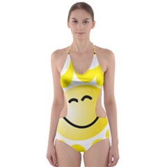 The Sun A Smile The Rays Yellow Cut-Out One Piece Swimsuit