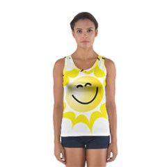 The Sun A Smile The Rays Yellow Women s Sport Tank Top