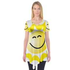 The Sun A Smile The Rays Yellow Short Sleeve Tunic
