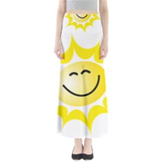 The Sun A Smile The Rays Yellow Maxi Skirts